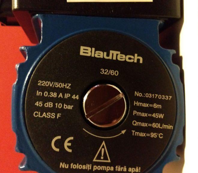 Pompe de recirculare : Blautech 32/60 – 180mm . 🇷🇴