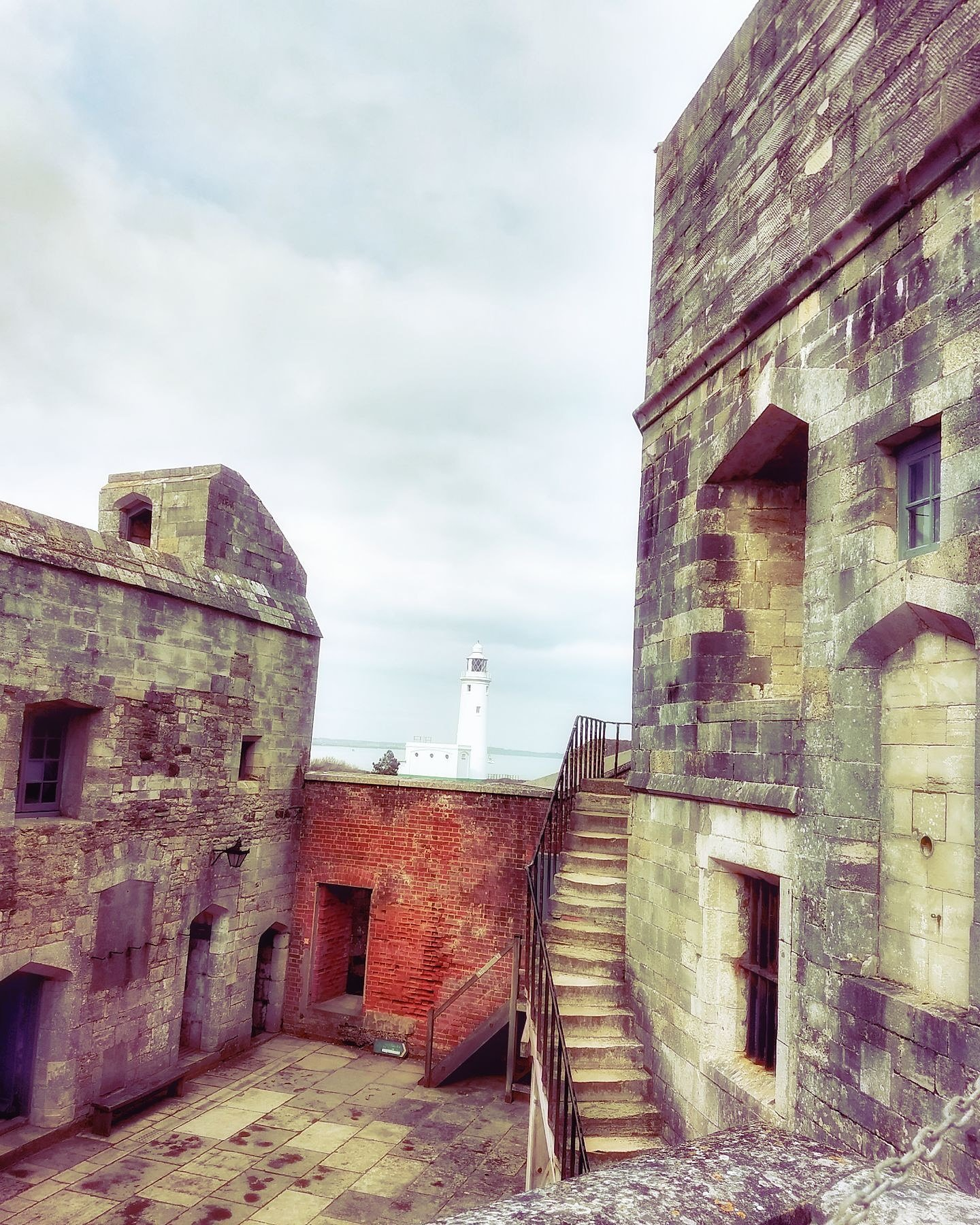Hurst Castle and lighthouse