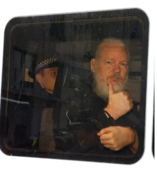 Assange out