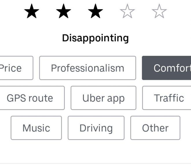 Calitate Uber -> 50 de lei, boss?