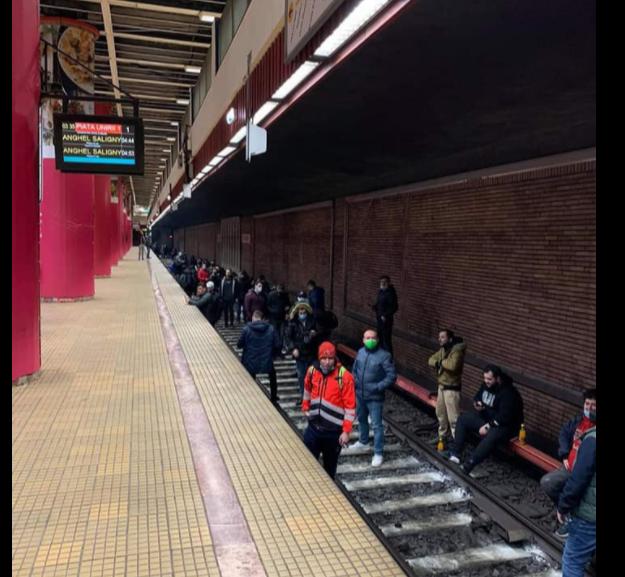 Căpușe pe linia de metrou