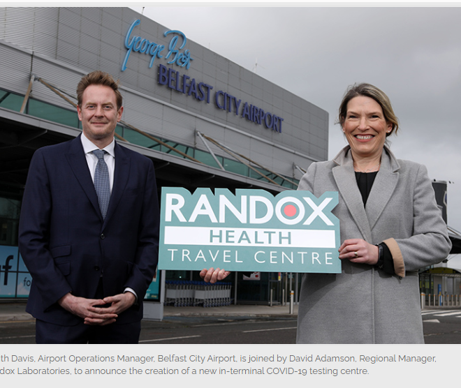 PCR: Teste de ziua 2  si ziua 8 pentru UK, cu Wizz/RANDOX